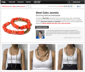 Steel Cake Jewelry Sale via Fab.com