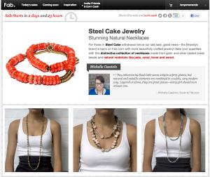 Steel Cake Jewelry Sale via Fab.com